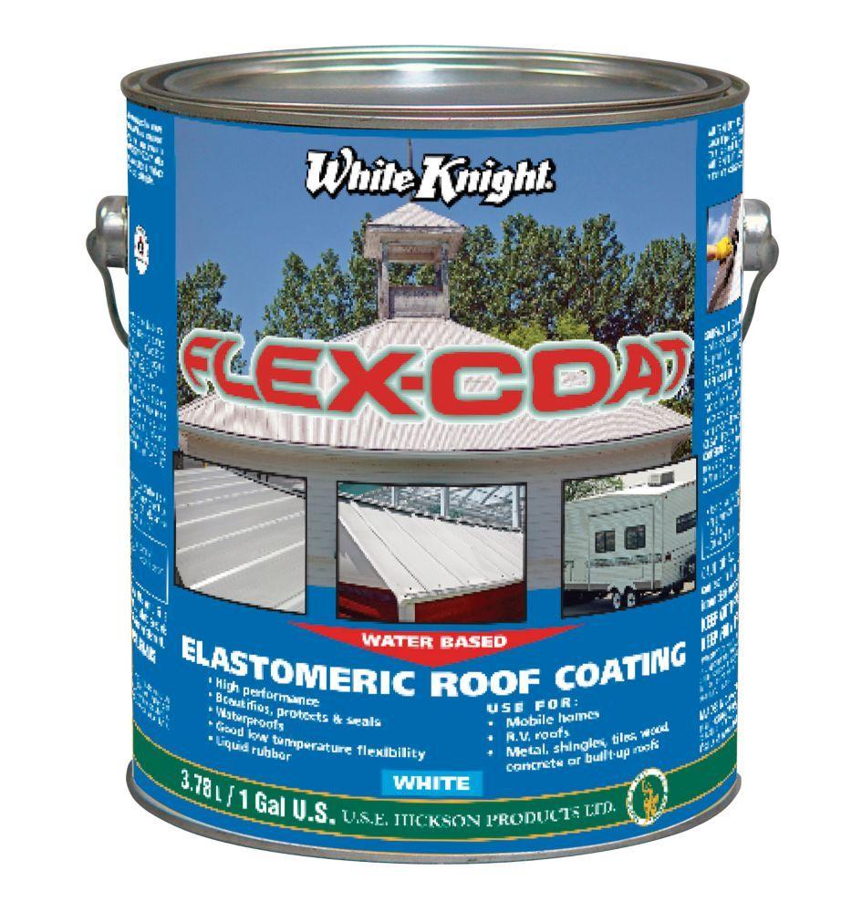 Flex Coat Elastomeric roof coating, Roof coating, Home depot