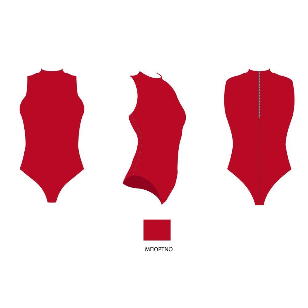 1a4d1bc3b97 Γυναικείο μαγιό κολύμβησης με γιακά και φερμουάρ στην πλάτη. Κατάλληλο για  κολυμβητήριο. Ποιότητα: 80% pol - 20% elastan. Ελληνικό προϊόν