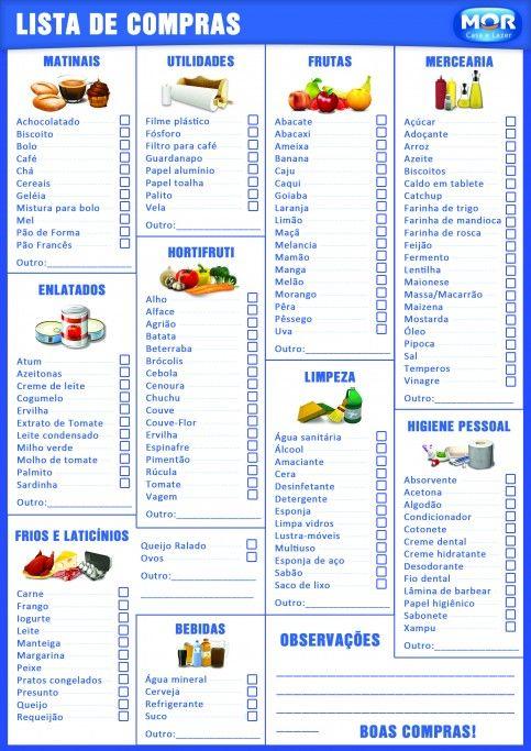 Muito lista de compras … | Pinteres… HE11