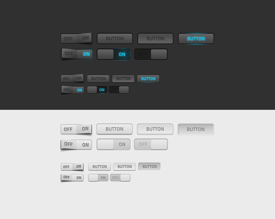 Some dark and light web elements | Fonts & Graphics (Free