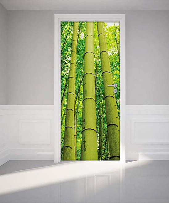Bamboo Door Decal #style#colorful#decal