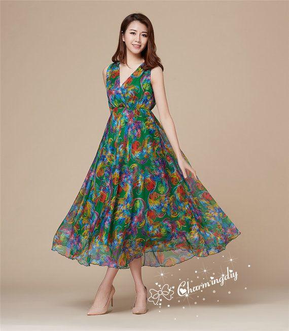53 Colors Chiffon Green Flower Long Length Party Evening Wedding Lightweight Loose Plus Size Dress Summer Dress Bridesmaid Maxi Skirt