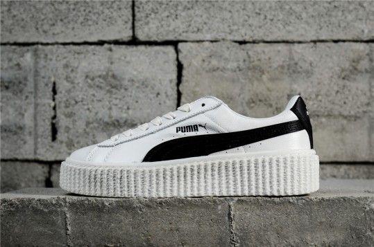 8bfe4d120df Rihanna x Fenty Creeper  White Leather  364462 01