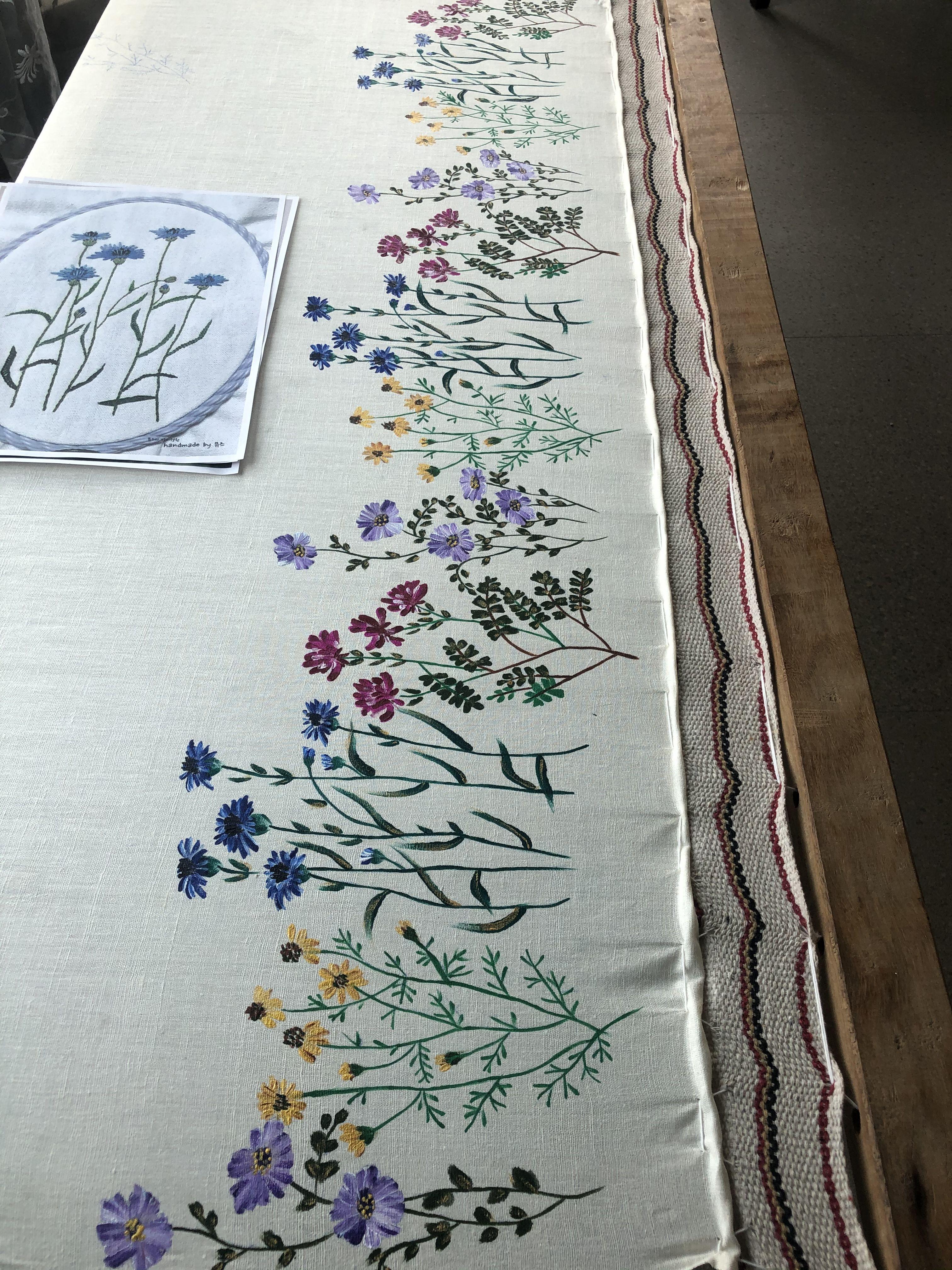 Hand painted pure pashmina silk dupatta   Fabric painting ...