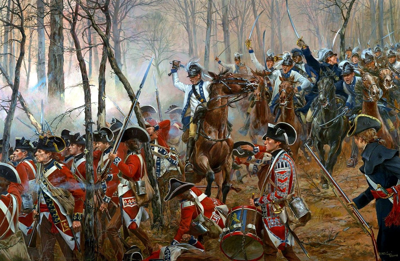Charge Of The 2nd Continental Light Dragoons At Guilford