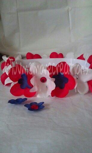 Flower headband. 4Th of July  @luvmemorecreations