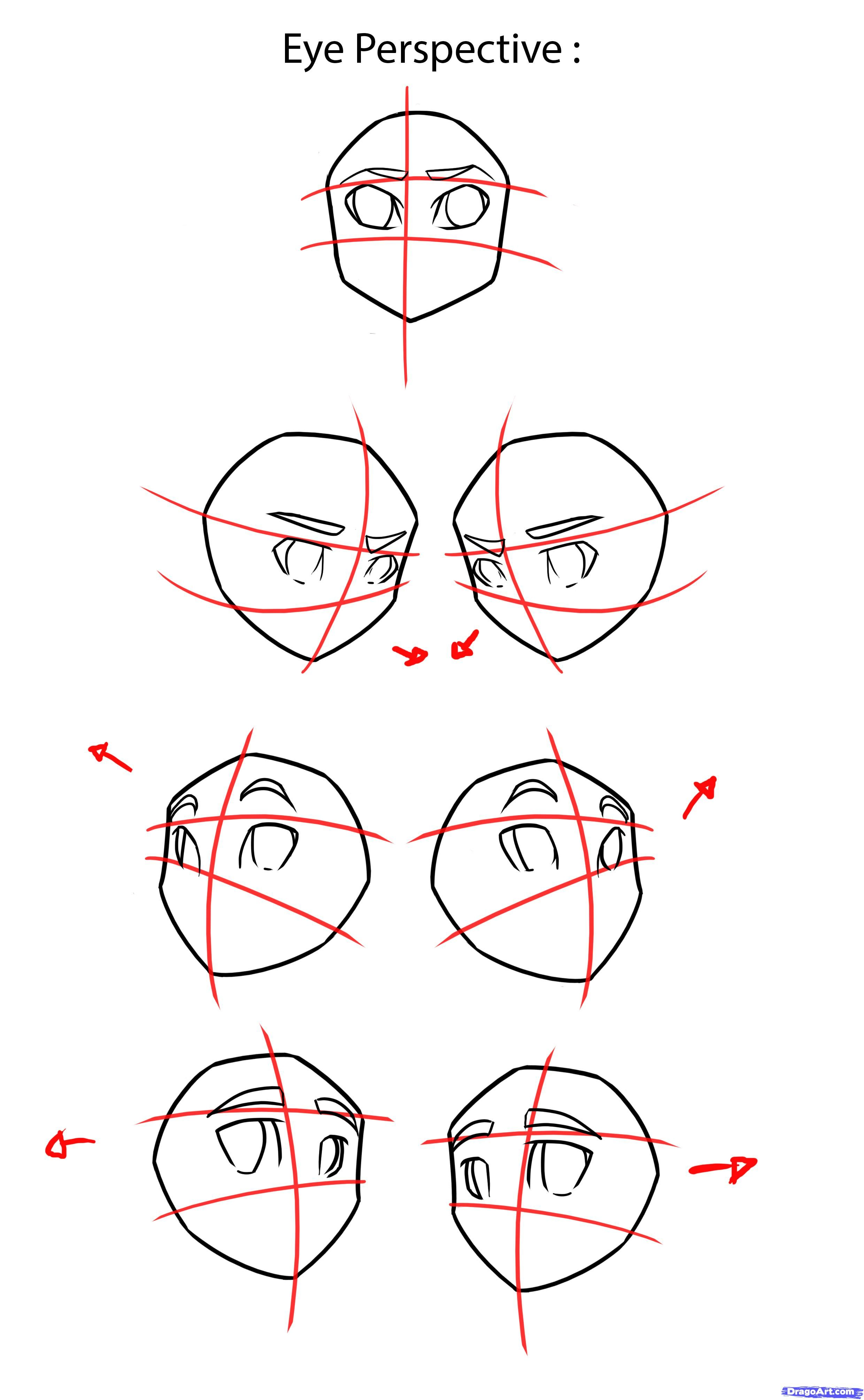 How To Draw Anime Eyes, Step By Step, Anime Eyes, Anime, Draw