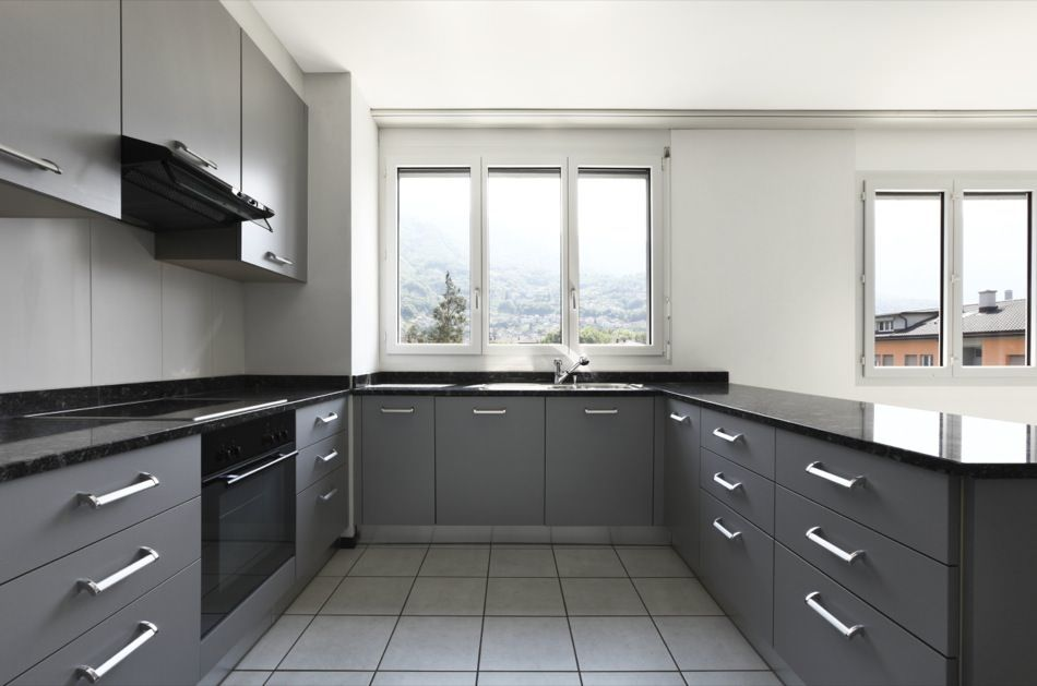 Ral 7045 Telegrey 1 Matte Kitchen Cabinets Grey