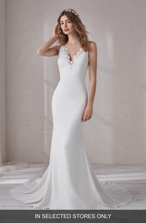 Pronovias Manon Crepe Trumpet Gown Wedding dresses