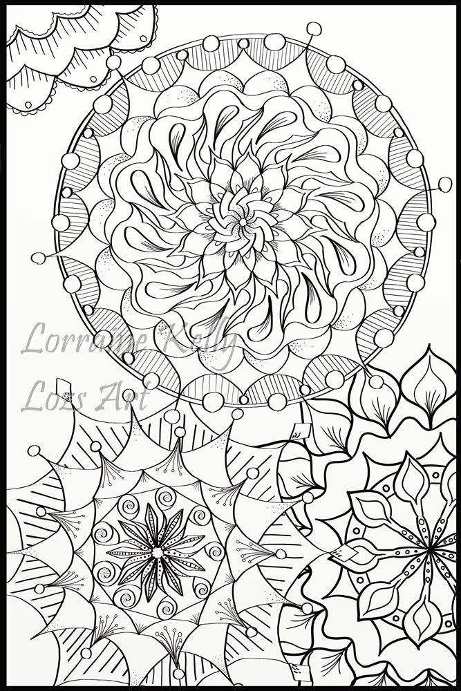 Mandala Adult Coloring Page From My Latest Book Australian