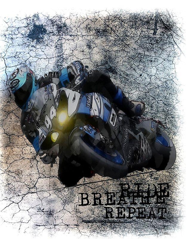 Ride Breathe Repeat Motorcycle Grunge Design