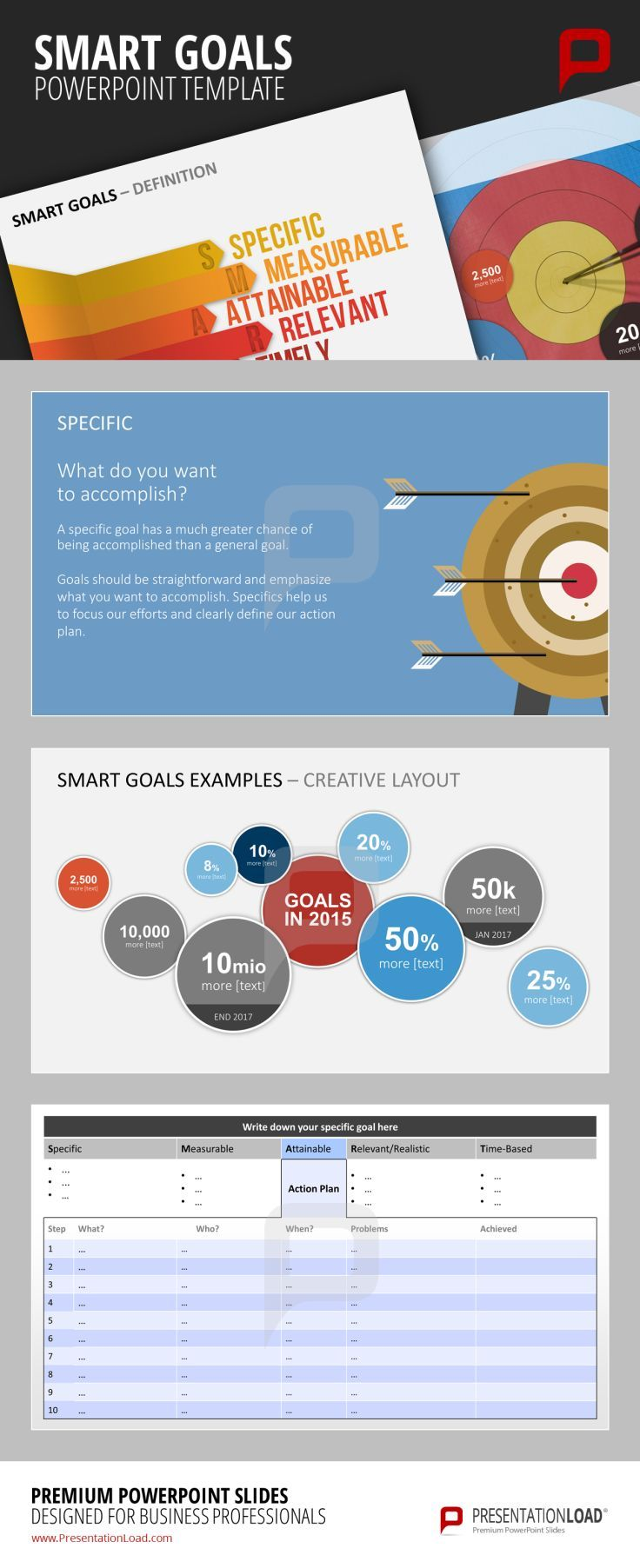 New SMART GOALS templates for your PowerPoint Presentation. For more ...