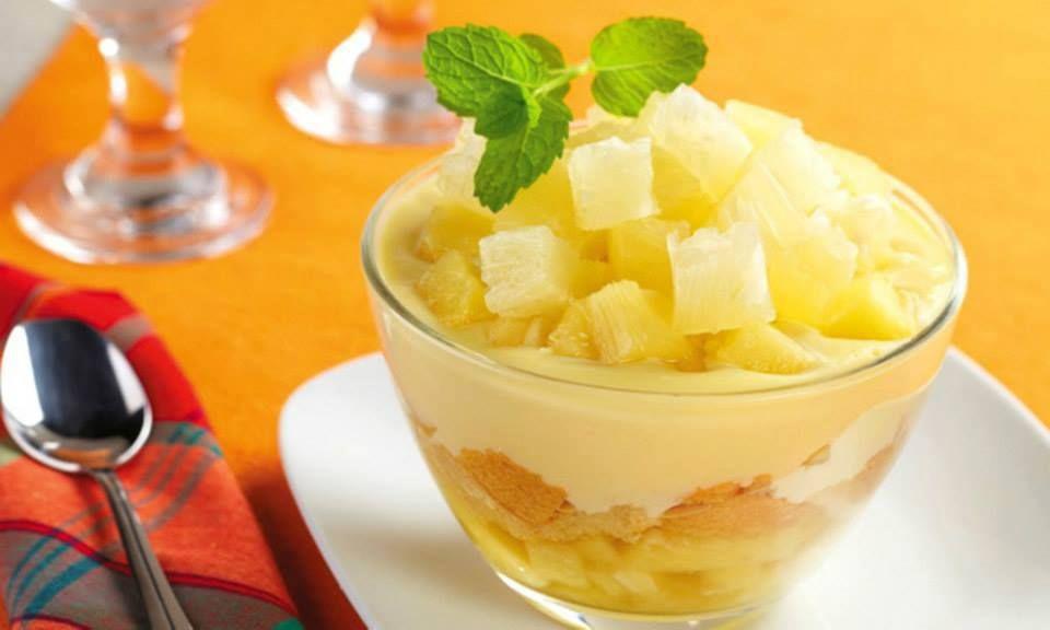 Receita de Receita de Pav� de abacaxi com coco