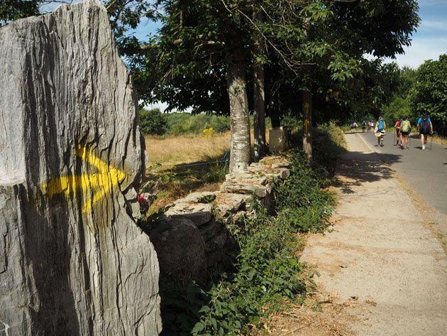 Sigue el camino de las flechas amarillas