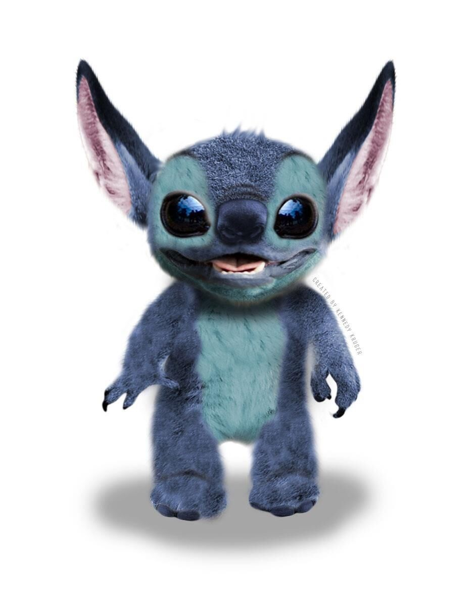 c6f4e4ab7b933 Post with 2877 views. I spent six hours photoshopping this realistic  version of Stitch from