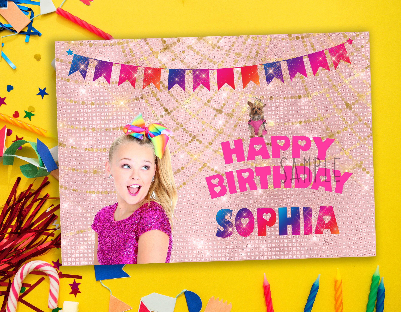 Jojo Siwa Birthday Card Jojo Siwa Birthday Party Jojo Siwa Birthday