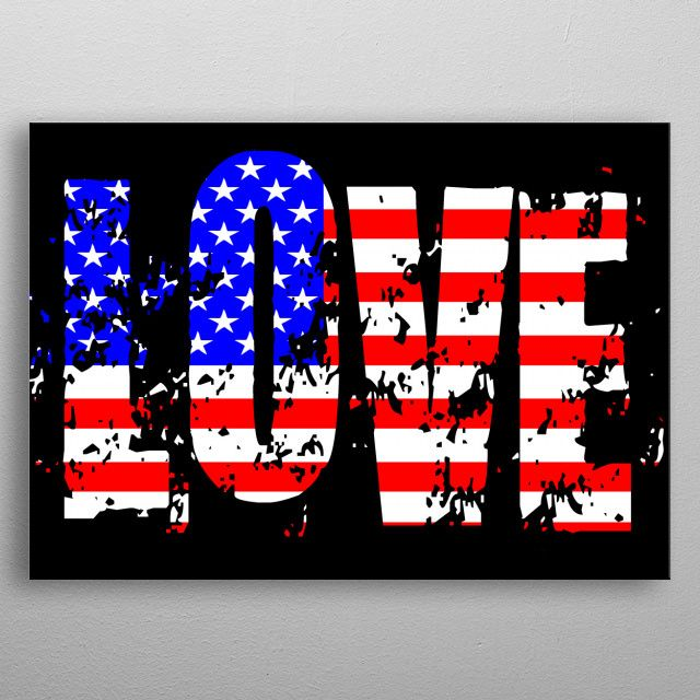 LOVE USA Classic one by oneclic FACTORY | metal posters - Displate | Displate thumbnail