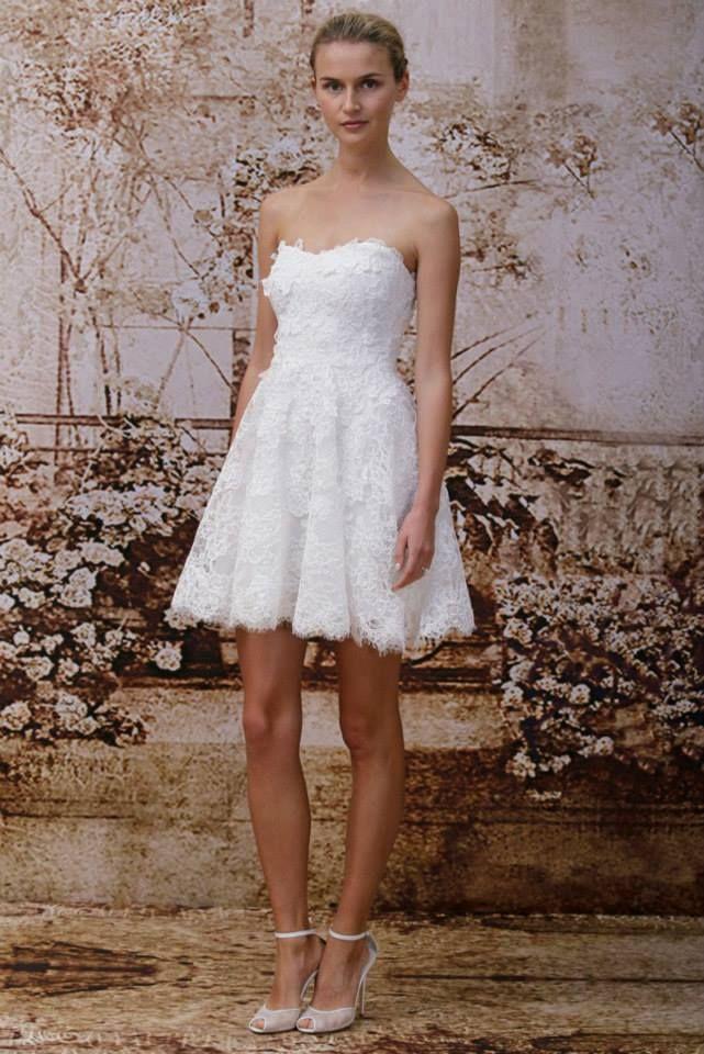Monique Lhuillier #short #wedding dress | Wedding Gowns and Attire ...