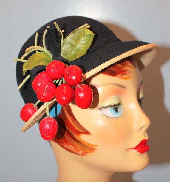 1950's Cloche with Berries