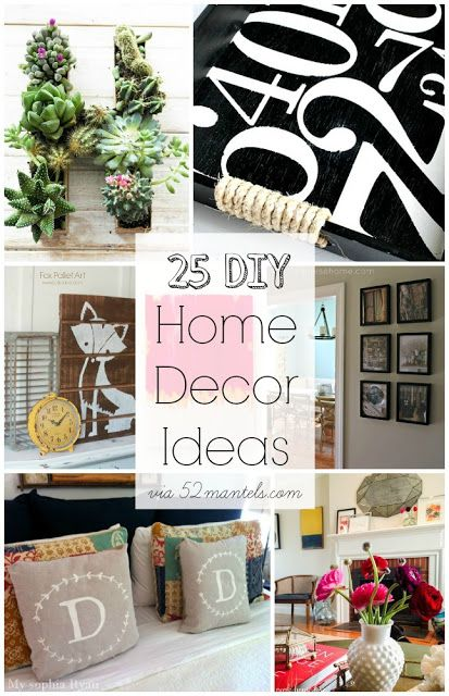 25 DIY Home Decor Ideas!