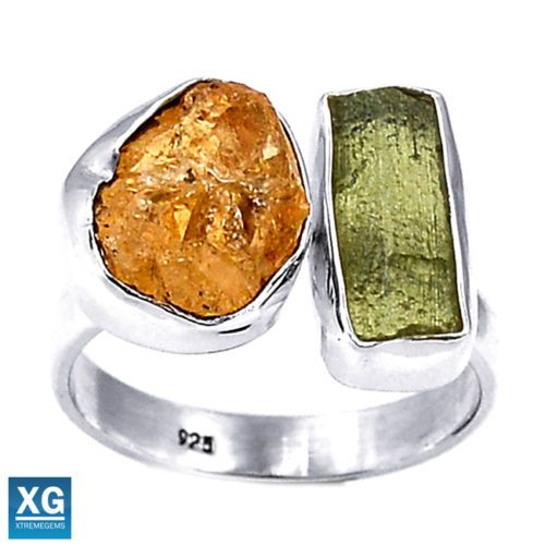 Genuine-Czech-Moldavite-925-Sterling-Silver-Ring-Jewelry-s-7-5-SR96555