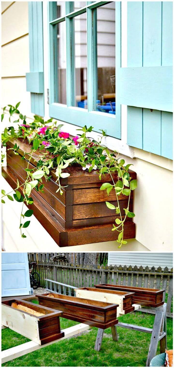 Easy How To Make Window Planter Box Tutorial Window 400 x 300