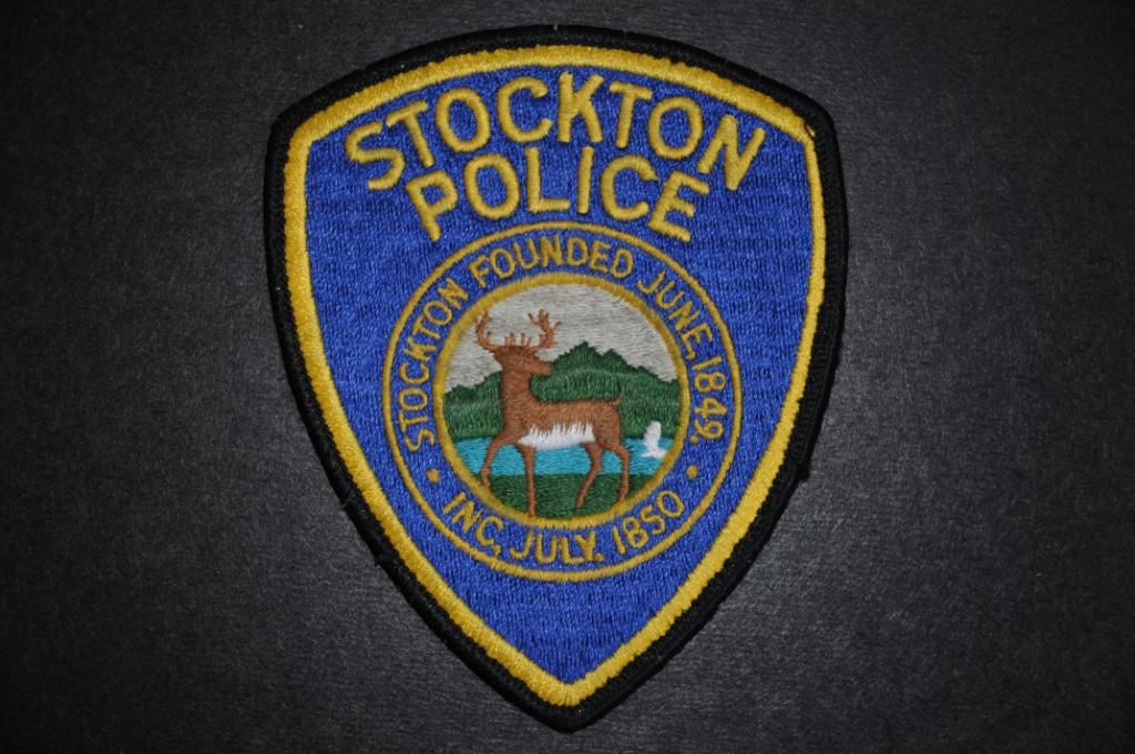 Stockton Police Patch San Joaquin County California Vintage