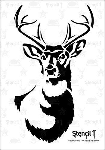 Stencil1 große Antlered Hirsch-Schablone S1_01_52L #craftsaleitems