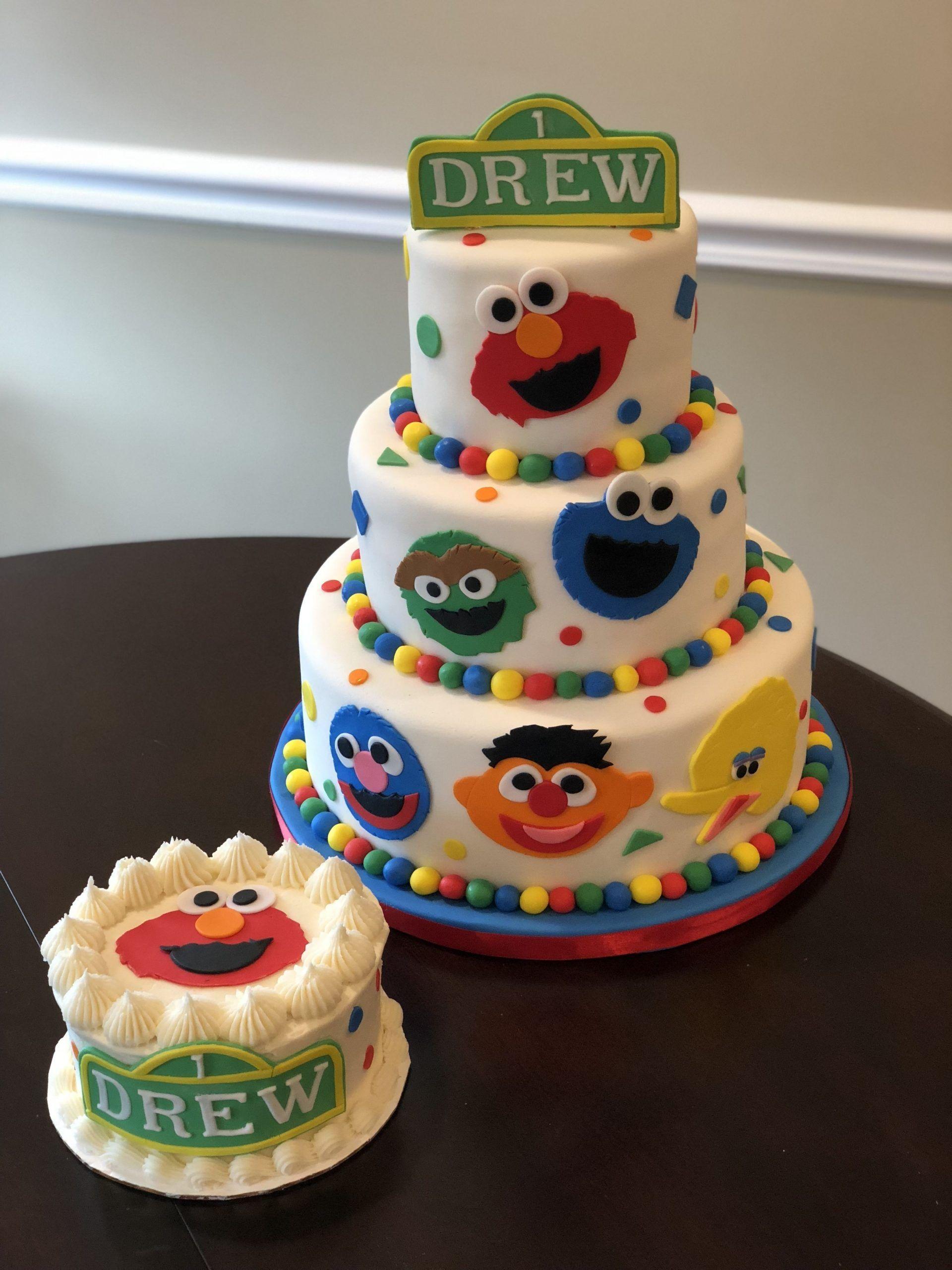 Sesame Street Birthday Cake For Birthday Ideas In 2020 Sesame