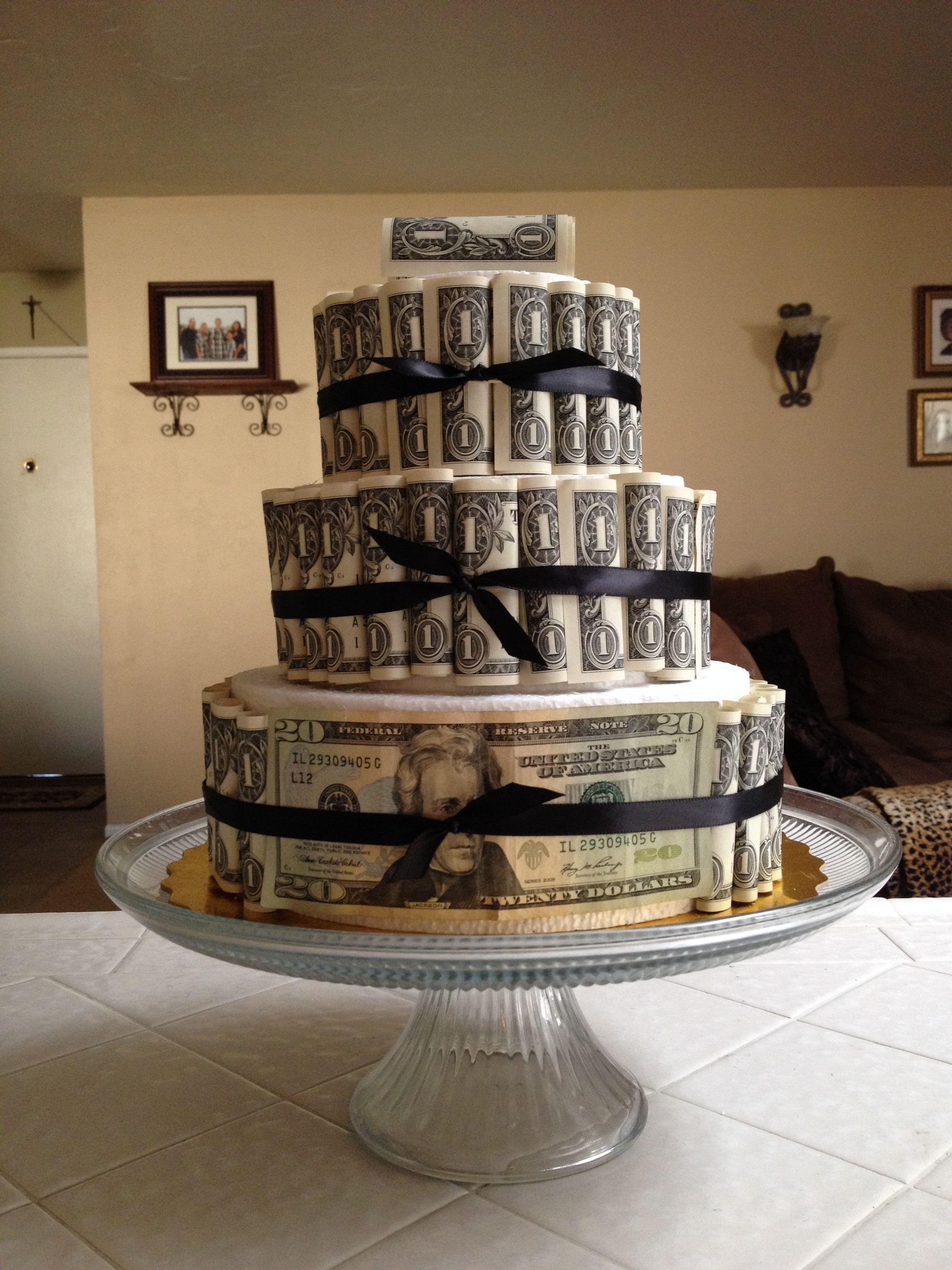 Happy Birthday Money Cake Party Ideas Pinterest Money Cake