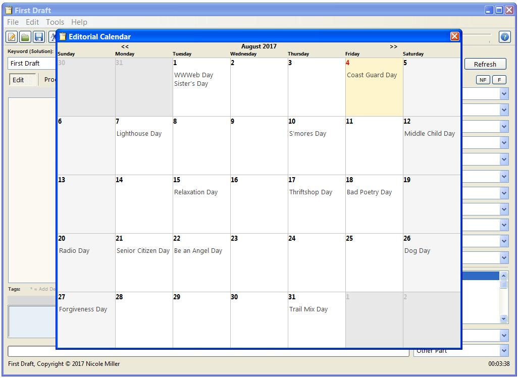 First Draft's Editorial Calendar   First Draft   First draft