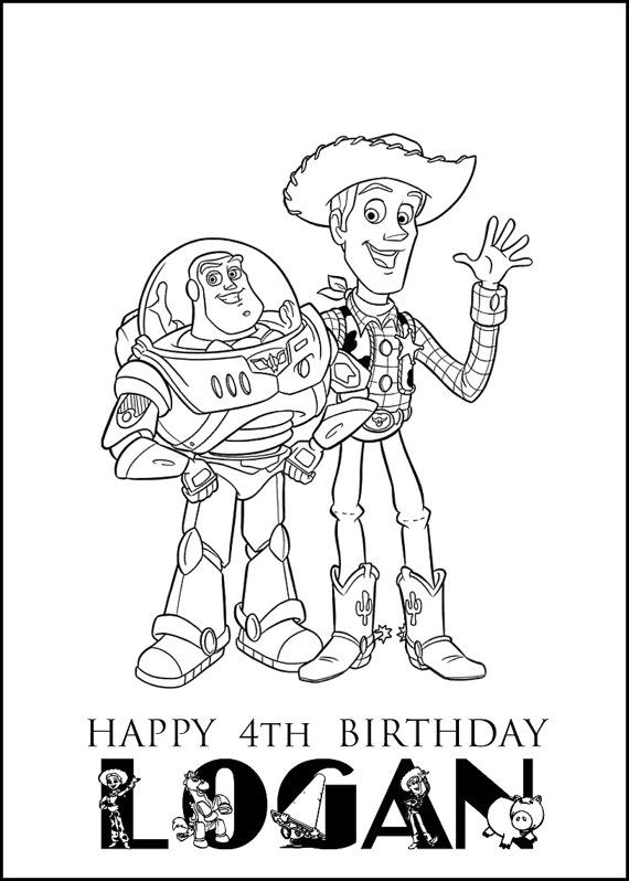 Toy Story Personalized Coloring Book PDF by ...