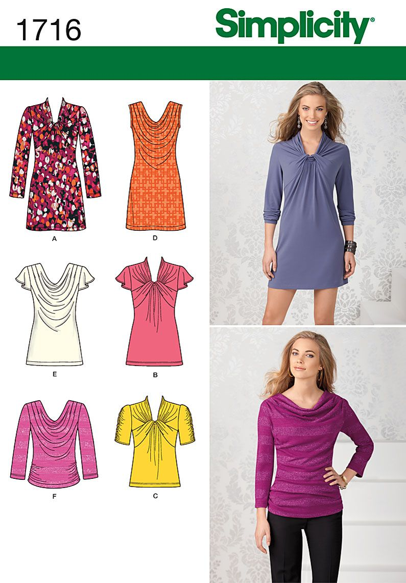 Simplicity 1716 misses top and dress mini dresses group and minis sewing ideas jeuxipadfo Image collections