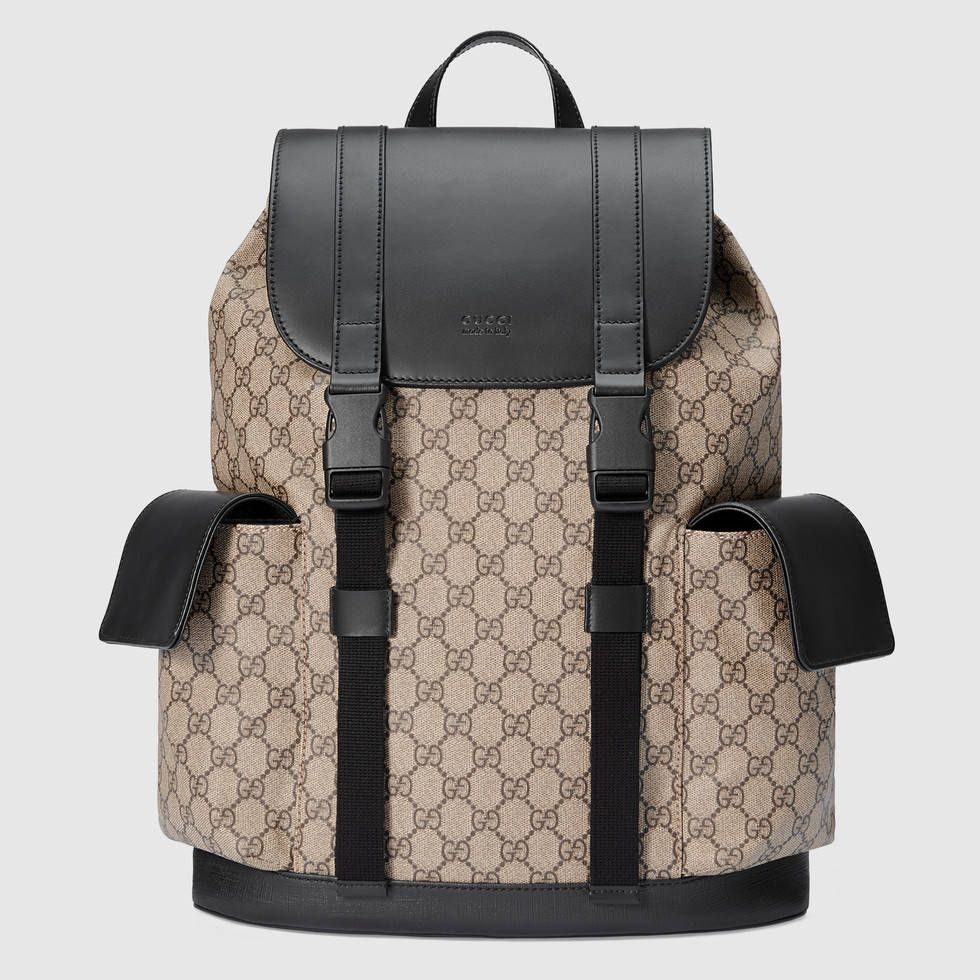 97b326121f03 Shop the Soft GG Supreme backpack by Gucci. Backpack made in soft GG Supreme,  a softer version of GG Supreme canvas, crafted from a coated microfiber  fabric ...