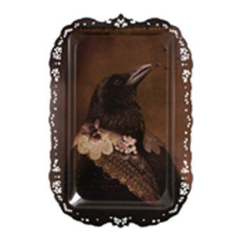 "Bernardo Avian Tray. With a goal ""to give the animal tribe back its nobility,"" Ibride artistic director Rachel Convers designed a series of anthropomorphic bird trays. Just bought it, so excited!!"