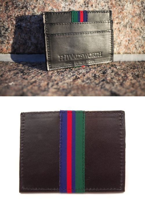 dc97e74d4 Other Mens ID and Doc Holders 169272  Black Striped Leather Card Holder -   BUY IT NOW ONLY   49 on eBay!