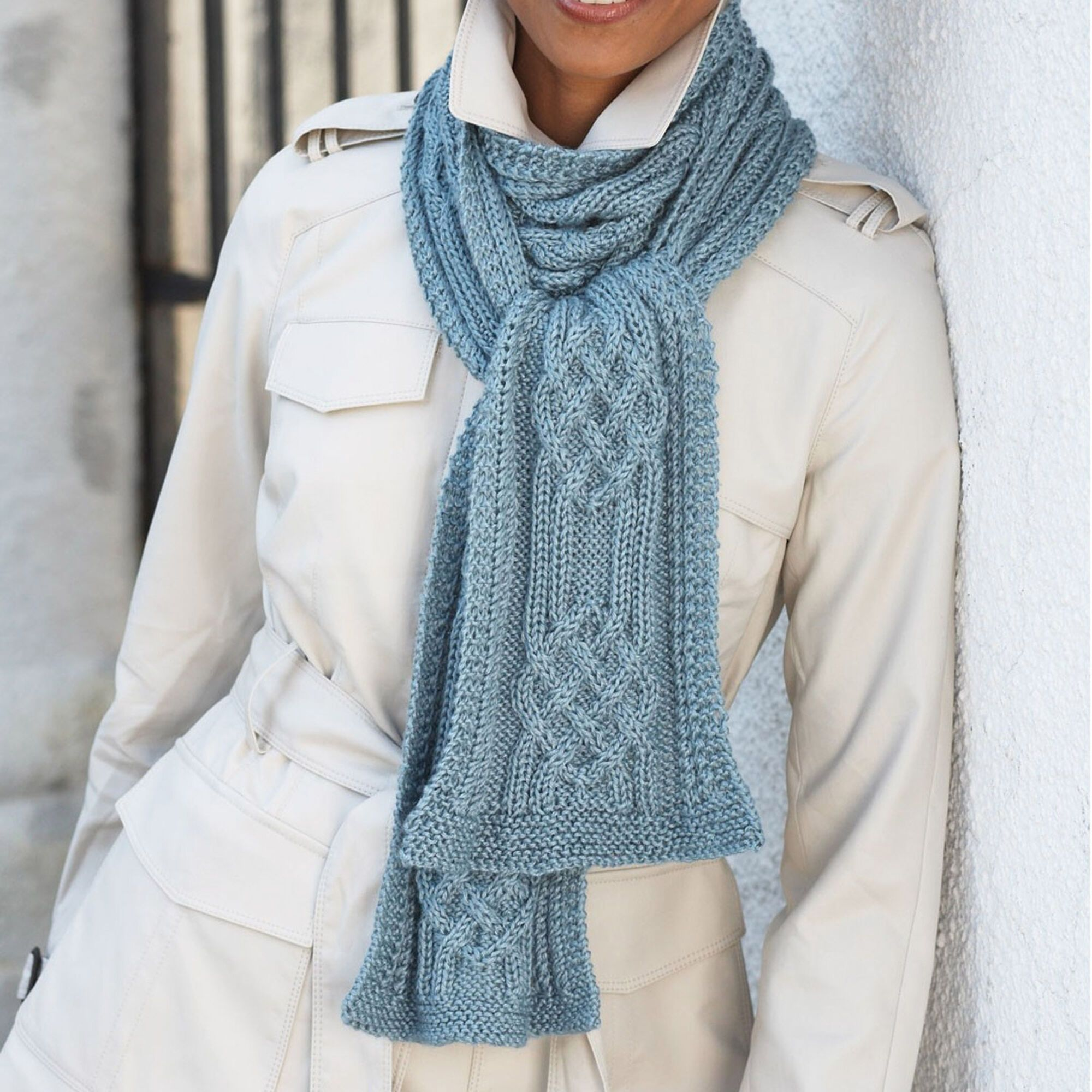 Patons Scarf Pattern | Yarnspirations in 2020 | Scarf ...