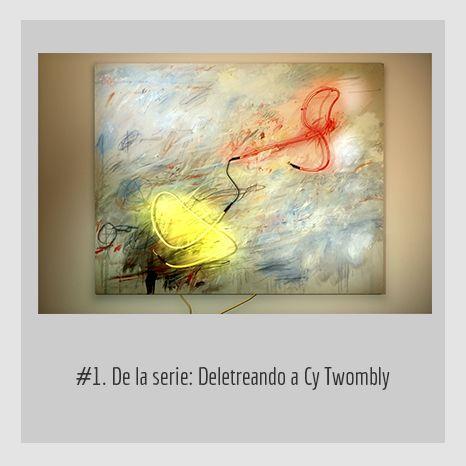 #1. DE LA SERIE: DELETREANDO A CY TWOMBLY.  YENY CASANUEVA Y ALEJANDRO GONZÁLEZ. PROYECTO PROCESUAL ART