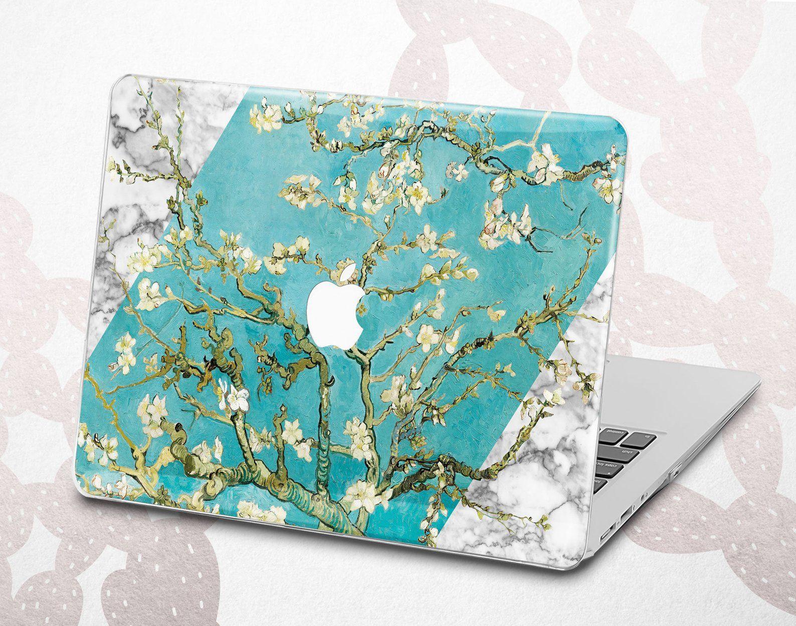 Van Gogh Macbook case Almond Branches in Bloom Macbook Pro