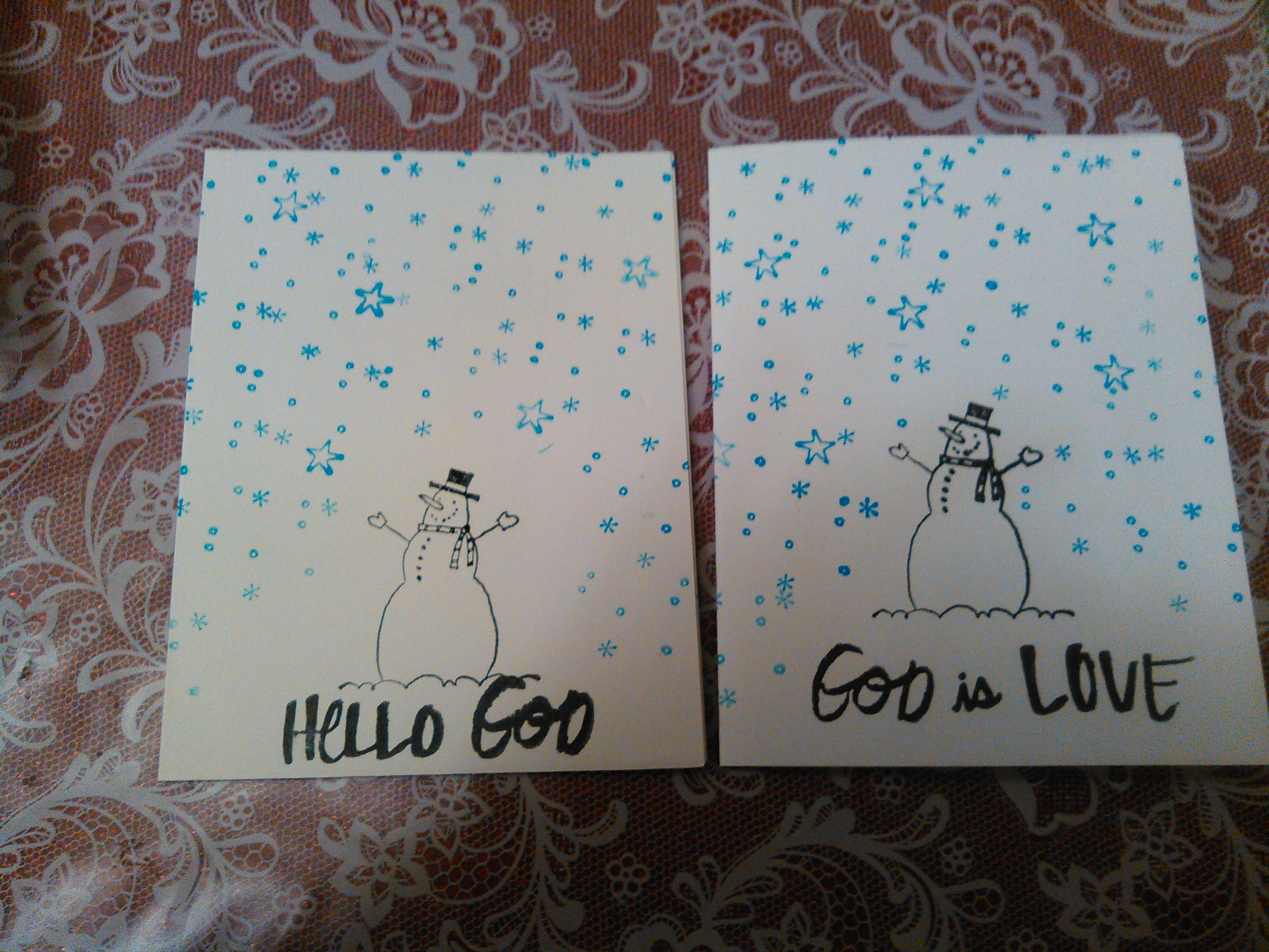 Just A Snowman Card For The Winter Blues
