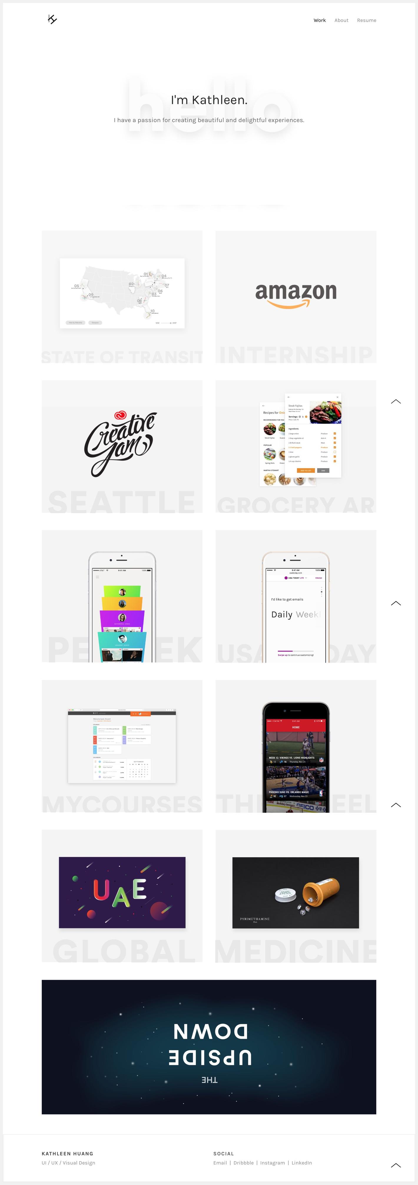 8 Ux Portfolios From Facebook Designers Portfolio Website Design Portfolio Web Design Portfolio Website