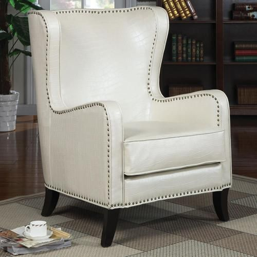 Details About Crocodile Faux Leather Accent Chair Wingback