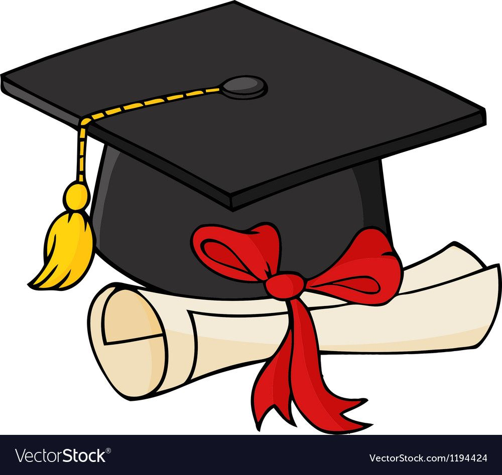 Illustration Of Graduate Black Cap With Diploma Download A Free Preview Or High Quality Adobe Illustrator Graduation Clip Art Graduation Cap Drawing Clip Art