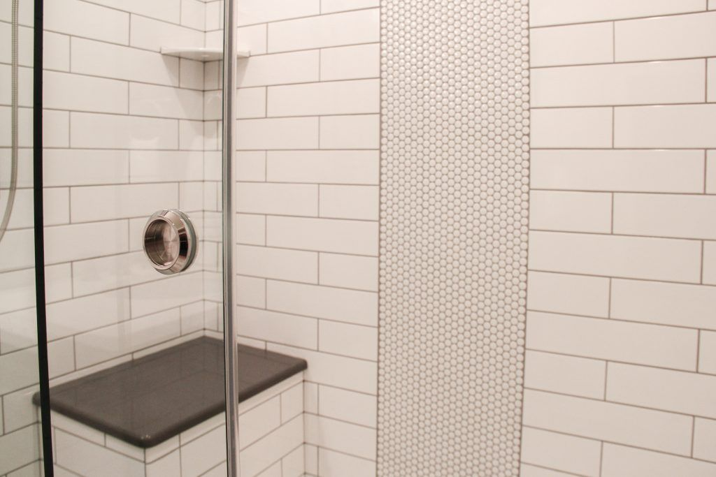 Shower And Wall Tile Angora 4x16 Glossy Tile White Shower Accent Angora Soho 3 4 Penny Round Glossy Whi Shower Tile White Shower Penny Round Tile Bathroom
