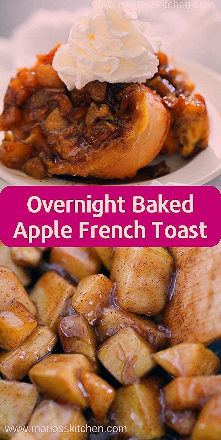 Photo of Overnight Baked Apple French Toast Casserole #desserts