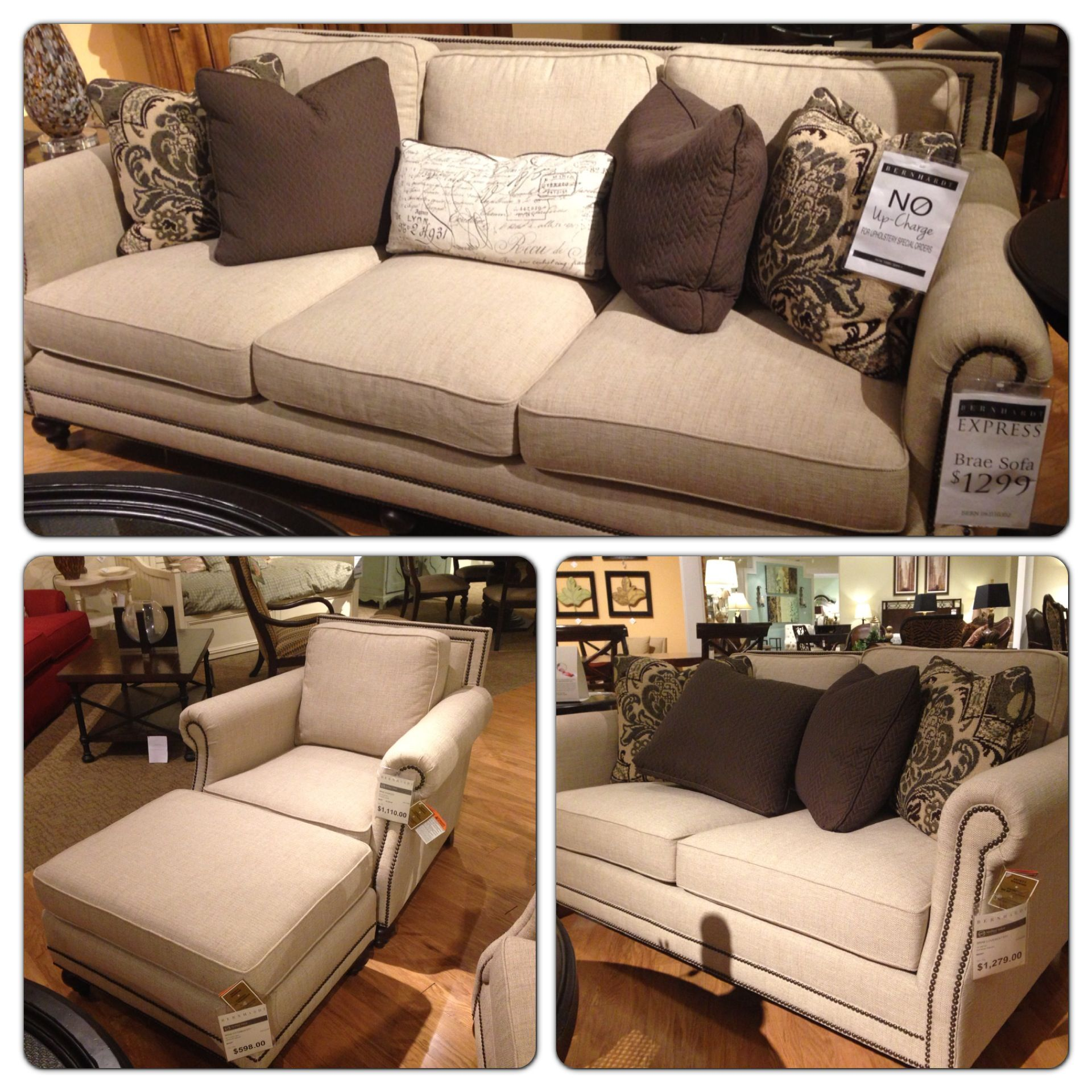 My Chair Bernhardt Brae Couch 1299 Love Seat 1279 Chair