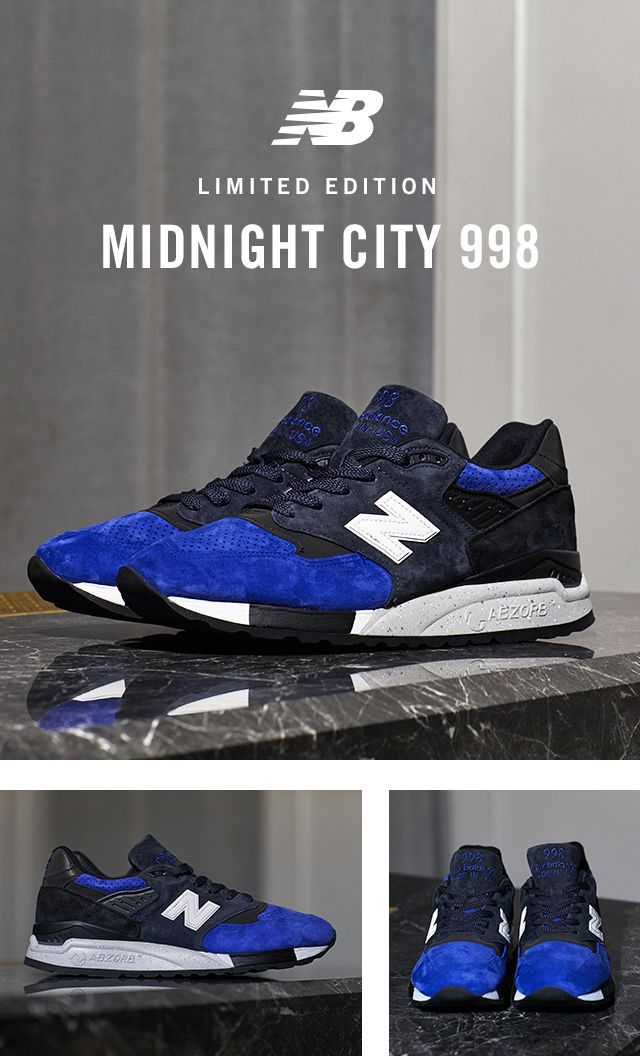 Introducing the limited edition Todd Snyder x New Balance Midnight City 998