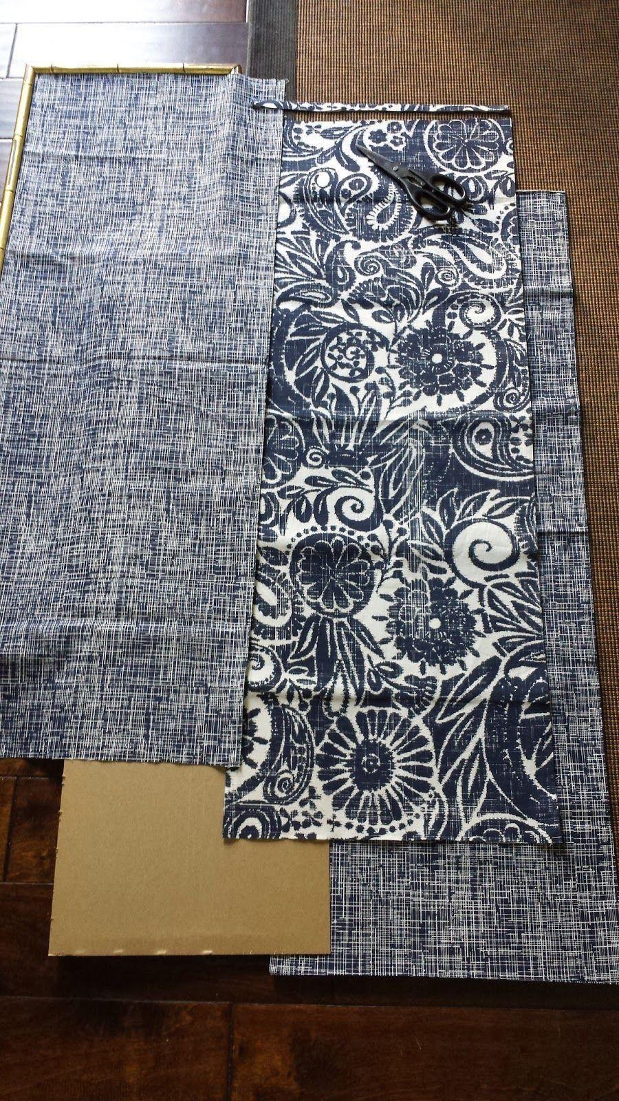 Diy indigo wall art with framed fabric 1000 framed