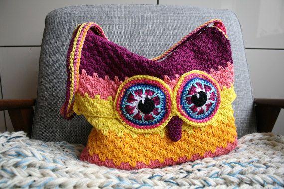 Owl Pattern Crochet Owl Purse Pattern Crochet Color Bag Pattern