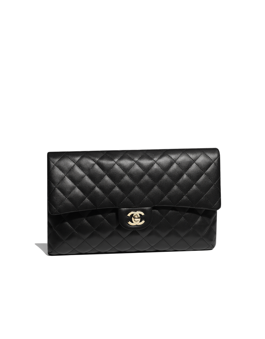 534278d57a8f Chanel - CLUTCH - LAMBSKIN & GOLD-TONE METAL - BLACK - $2,700 | Want ...